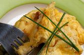 Omelete de close-up — Fotografia Stock