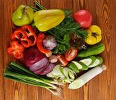 Ingredientes da salada de legumes — Fotografia Stock