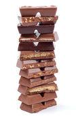 Blocos de chocolate — Fotografia Stock