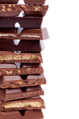 Frame of Chocolate Blocks — Stock Photo