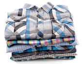 Stack of Plaid Men — Stock Photo