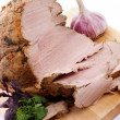Pork Roast and Slices — Stock Photo