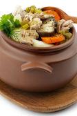 Chicken Stew in Pot — Stock Photo