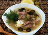 Soup Solyanka — Stock Photo
