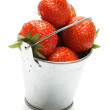 Bucket with Strawberry — Stock Photo