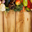 Stock Photo: Frame of Fruits and Autumn Yield