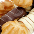 Stock Photo: Arrangement of Eclair and Profiterole