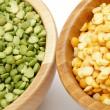 Green and Yellow Peas - Foto de Stock  
