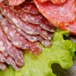 Stock Photo: Slices of Salami and Smoked Sausage