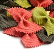 Three Color Farfalle — Stock Photo