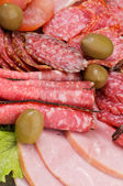 Background of Delicatessen Meat — Stock Photo