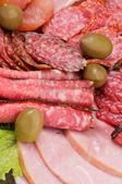 Background of Delicatessen Meat — Stock Photo