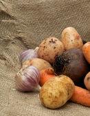 Hoop van rauwe groenten — Stockfoto