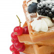 BelgiWaffle and Berries — Stock Photo #18584693