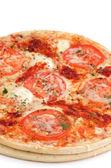 Pizza de queijo e tomate — Foto Stock
