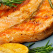Foto Stock: Grilled Salmon