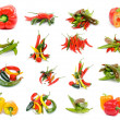 Collection of Peppers — Stock Photo #22202265
