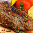 Foto Stock: Grilled Beef and Vegetables
