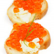 Red Caviar Snacks — Stockfoto #24080897