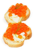 Red Caviar Snacks — Stock Photo