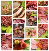 Meat and Sausages Collection — Stock Photo
