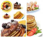 Collection of Pancakes — Stock Photo