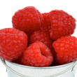 Raspberries in Bucket — Stock Photo #27660843