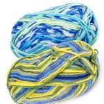 Multi Colored Knitting Yarn — Stock Photo