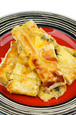 сыр и зелень пирог — Стоковое фото