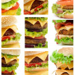 Collection of Burgers — Stock Photo