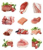 Collection of Raw Meat — Stock Photo