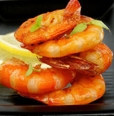 Grilled Shrimps — Foto Stock