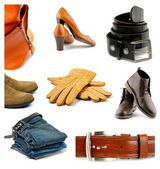 Collection of Clothes, Shoes and Accessories — Stock Photo