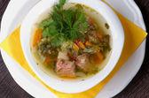 Vegetais sopa — Fotografia Stock