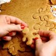 Preparation Gingerbread Men — Stock Photo