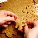 Preparation Gingerbread Men — Stock Photo #35042211