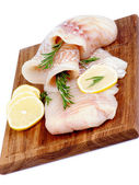 Raw Cod Fish — Stock Photo