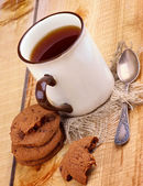 Tea and Cookies — 图库照片