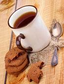 çay ve kurabiye — Stok fotoğraf