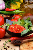 Bruschetta sauce — Stockfoto