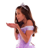 Young Princess Blowing Dream — Stock Photo