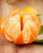 Tangerine with Segments — Foto de Stock