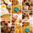 Preparing Gingerbread Cookies — Lizenzfreies Foto