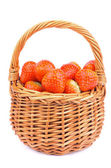 Strawberries in Basket — Stock Photo