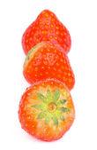 Three Strawberries — Stock Photo