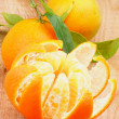Tangerine with Segments — Stock Photo