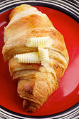 Croissant and Butter — Stock Photo
