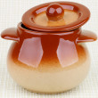 Stock Photo: Brownish Stoneware Pot