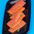 Stock Photo: smoked salmon&quot