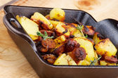 Sausages and Potato Stew — Stock Photo